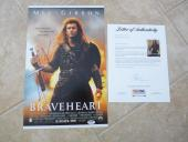 Mel Gibson Signed Autographed 11x17 Braveheart  Photo PSA Certified