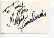 Melina Kanakaredes Extant CSI NY Providence Rounders Signed Autograph Card