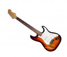 Melissa Etheridge Autographed Signed Sunburst Guitar & Proof AFTAL