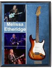 Melissa Etheridge Autographed Signed Sunburst Guitar & Proof + Display AFTAL