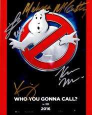 Melissa McCarthy, Kate McKinnon, Kristen Wiig, and Leslie Jones Signed - Autographed Ghostbusters 8x10 inch Photo - Guaranteed to pass PSA or JSA
