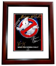 Melissa McCarthy, Kate McKinnon, Kristen Wiig, and Leslie Jones Signed - Autographed Ghostbusters 8x10 inch Photo MAHOGANY CUSTOM FRAME - Guaranteed to pass PSA or JSA