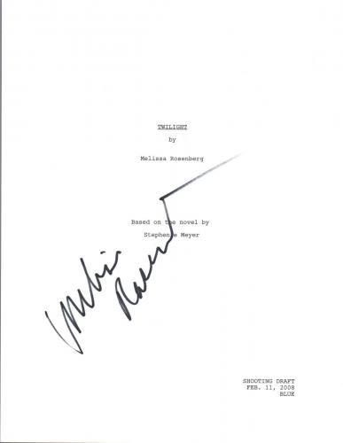 Melissa Rosenberg Signed Autograph TWILIGHT Movie Script Screenwriter COA