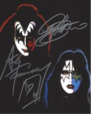 """Members of """"KISS"""" GENE SIMMONS (SINGER) and ACE FREHLEY (LEAD GUITARIST) Signed by Both 8x10 Color Photo"""