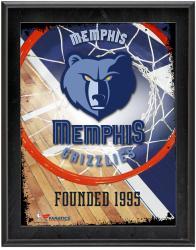"""Memphis Grizzlies Team Logo Sublimated 10.5"""" x 13"""" Plaque"""