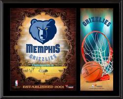 """Memphis Grizzlies Sublimated 12"""" x 15"""" Team Logo Plaque"""