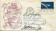 Mercury Seven Astronaut Gus Grissom John Glenn Deke Slayton Shepard Signed JSA
