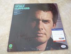 Merle Haggard A Portrait Of Signed Autographed LP Record PSA Certified