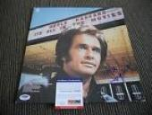Merle Haggard All In The Movies Signed Autographed LP Album Record PSA Certified