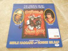 Merle Haggard Bronco Billy Signed Autographed LP Record PSA Certified