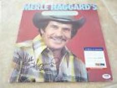 Merle Haggard Greatest Hits Signed Autographed LP Record PSA Certified