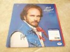 Merle Haggard Its All In The Game Signed Autographed LP Record PSA Certified