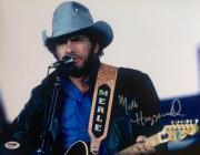 Merle Haggard (September 22nd 1985 Performance) Signed 11x14 Photo Psa/Dna