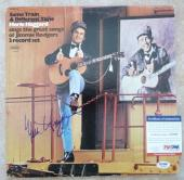 Merle Haggard Signed Autograph Same Train Different Time LP Record PSA Certified