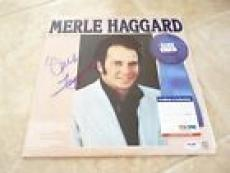 Merle Haggard Signed Autographed Eleven Winners LP Record PSA Certified