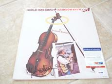 Merle Haggard Signed Autographed Rainbow Stew LIVE LP Record PSA Certified