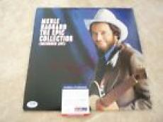 Merle Haggard Signed Autographed The Epic Collection LP Record PSA Certified