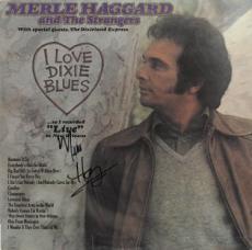 Merle Haggard signed I Love Dixie Blues Record Album LP (1973 Capitol Records)