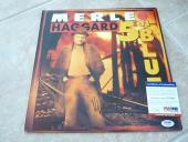 Merle Haggard & Strangers Signed Autographed 501 Blues LP Record PSA Certified