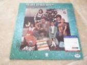 Merle Haggard & Strangers Signed Christmas Presents LP Record PSA Certified