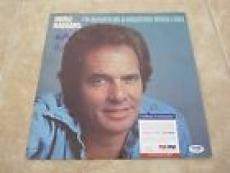Merle Haggard & Strangers Signed Im Always On A Mountain LP Record PSA Certified