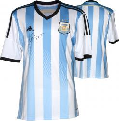 Lionel Messi Argentina Autographed Blue and White Front Jersey