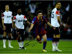 """Lionel Messi FC Barcelona B Autographed 16"""" x 12"""" 2011 Goal Photograph"""