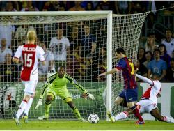 """Lionel Messi FC Barcelona B Autographed 16"""" x 12"""" 2014 Goal Photograph"""