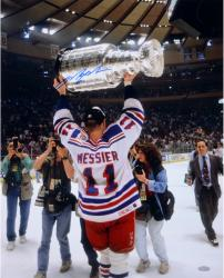 Mark Messier New York Rangers 1994 Stanley Cup Champions Autographed 16'' x 20'' Cup Overhead Photograph - Mounted Memories