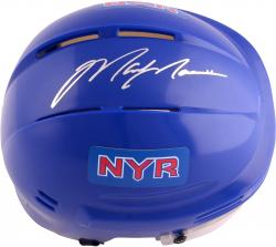 Mark Messier New York Rangers Autographed Blue Mini Helmet