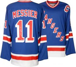 Mark Messier New York Rangers Autographed White Reebok Jersey