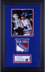 Mark Messier New York Rangers Deluxe Framed Autographed 8'' x 10'' Cup On Side Photograph - Mounted Memories  - Mounted Memories