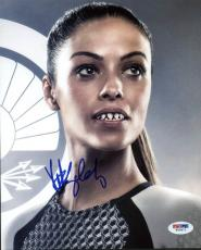 Meta Golding Signed Hunger Games 8x10 Photo Authentic Autograph PSA/DNA #W78972