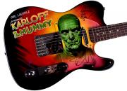 Metallica Autographed Kirk Hammett Signed Airbrushed Guitar Preorder AFTAL