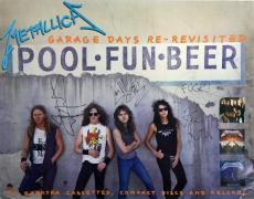 Metallica Band Signed Elektra Promo Poster W/ Hetfield, Ulrich & Hammett Psa/dna