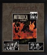 Metallica James Hetfield Kirk Hammett Lars Jason Autographed Load Custom Display