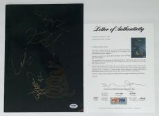 Metallica James Hetfield Kirk Lars Jason Signed Wherever We May Roam Program Psa