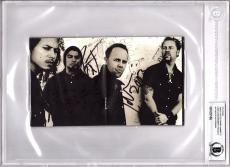 METALLICA James Hetfield, Lars Ulrich +2 Signed CD Cover BECKETT BAS Slabbed
