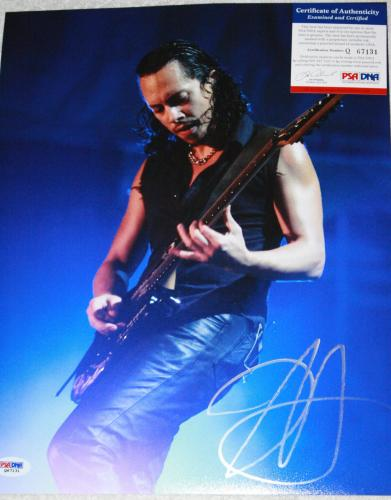METALLICA Kirk Hammett signed 11 x 14. Death Magnetic, Stone Cold Crazy, PSA/DNA