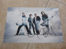 Metallica Lars & Kirk Signed Autographed Promo 8x12 Photo Beckett Certified