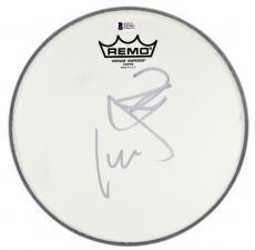 Metallica Lars Ulrich & Kirk Hammett Signed 10 Inch Drum Head BAS #E85401