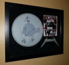 Metallica Signed Autographed Framed Drumhead JSA Certified James Lars Kirk Rob