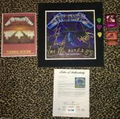 METALLICA signed autographed LP record album James Lars Kirk CLIFF PSA DNA RARE