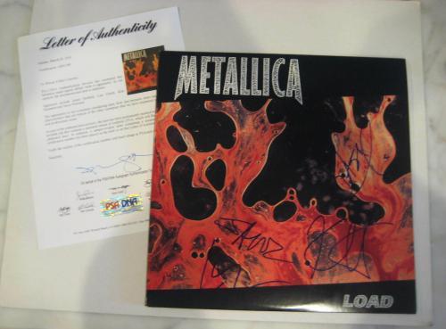 METALLICA Signed LOAD Album w/ PSA LOA - HETFIELD, ULRICH, HAMMETT & NEWSTED