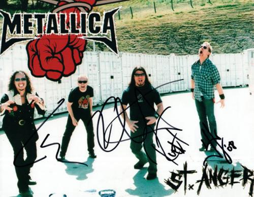 Metallica X4 Autographed Signed 8x10 St Anger Promo Photo AFTAL UACC RD COA