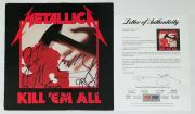 Metallica X4 Cliff Burton James Hetfield Kirk & Lars Signed Kill 'em All Psa Loa