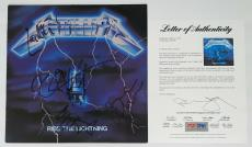 Metallica X4 Cliff Burton James Hetfield Kirk Lars Signed Ride The Lightning Psa