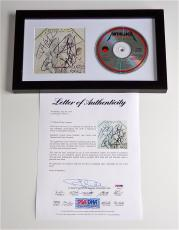 Metallica X4 James Hetfield Kirk Lars & Jason Signed And Justice For All Cd Psa