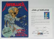 Metallica X4 James Hetfield Kirk Lars & Jason Signed Damaged Justice Program Psa