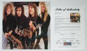 Metallica X4 James Hetfield Kirk Lars & Jason Signed Garage Days Promo Flat Psa